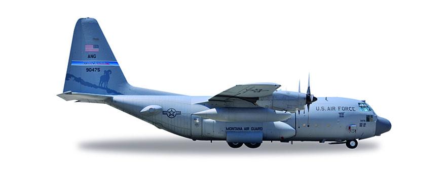 Herpa Wings 1:500 Lockheed c-130h us air force nevada Air National Guard 530651