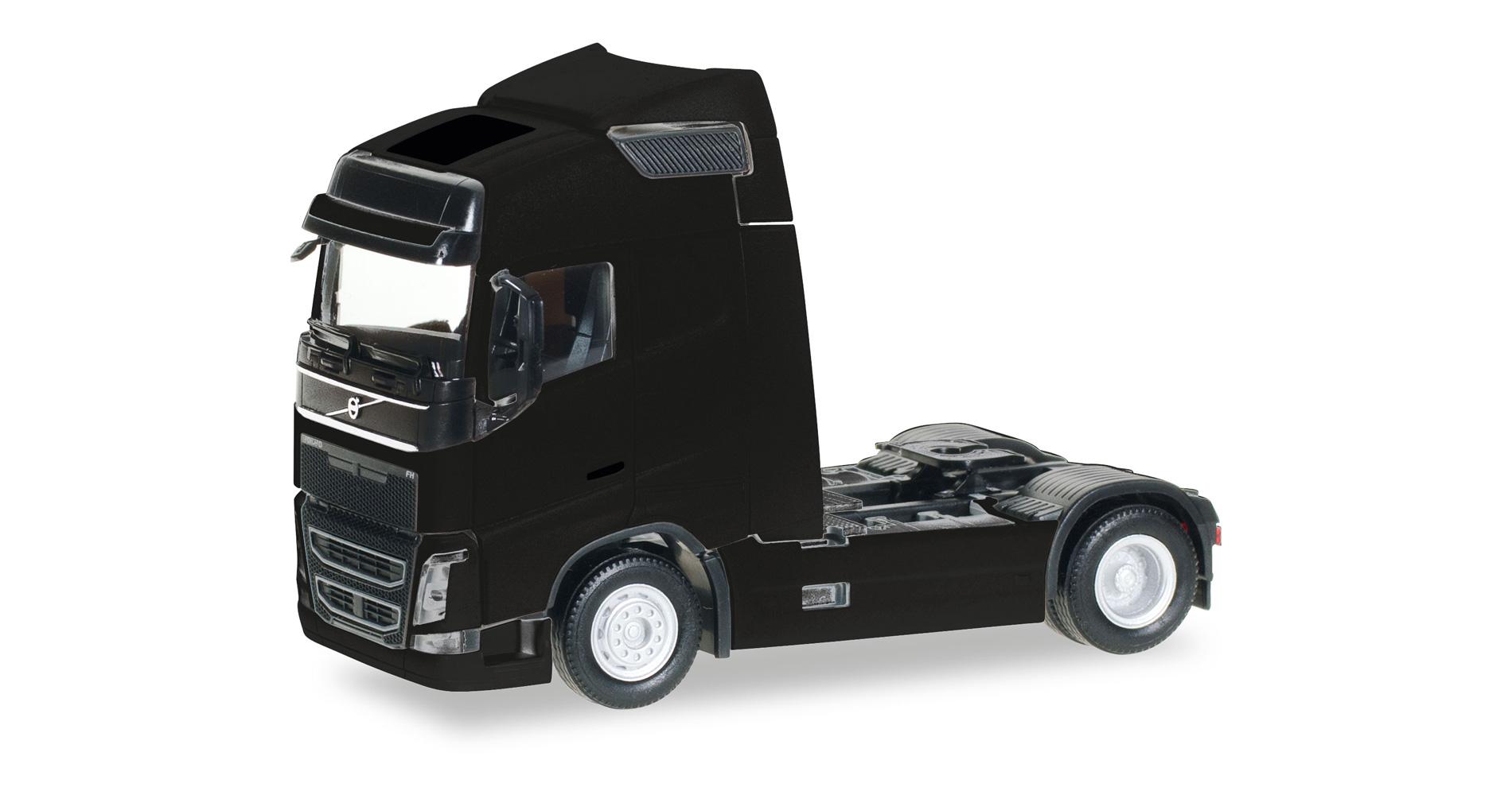 Herpa 303767 004 Volvo FH GL Globetrotter tractor camión negro scale 1 87 nuevo
