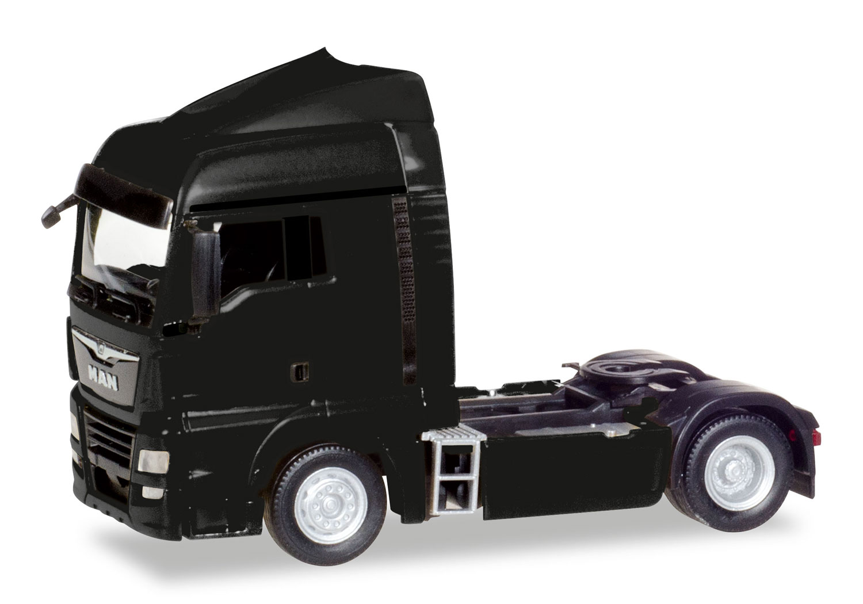 Herpa 308335-1//87 MAN TGX XlX euro 6c tractor-negro-nuevo