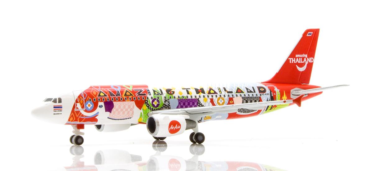 """Herpa 532686-1//500 Thai Air Asia Airbus A320 /""""Amazing Thailand/"""" Neu"""