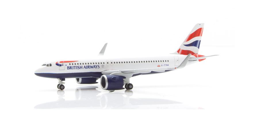 Herpa Wings airbus a320 neo British Airways 532808-1:500