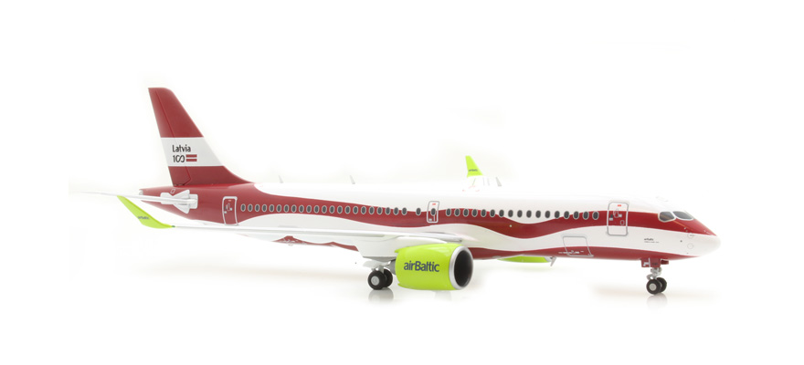 Herpa 559690 A220-300 airBaltic Latvia 100