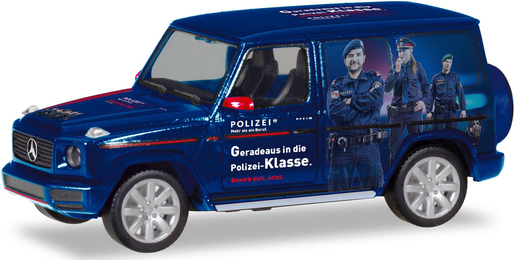 """Herpa 1:87 094757 Mercedes Benz G-Modell /""""Polizei Österreich/"""" NEU!"""