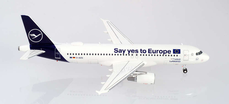 "559997 Lufthansa Airbus A320 ""Say yes to Europe"" ""Sindelfingen"""