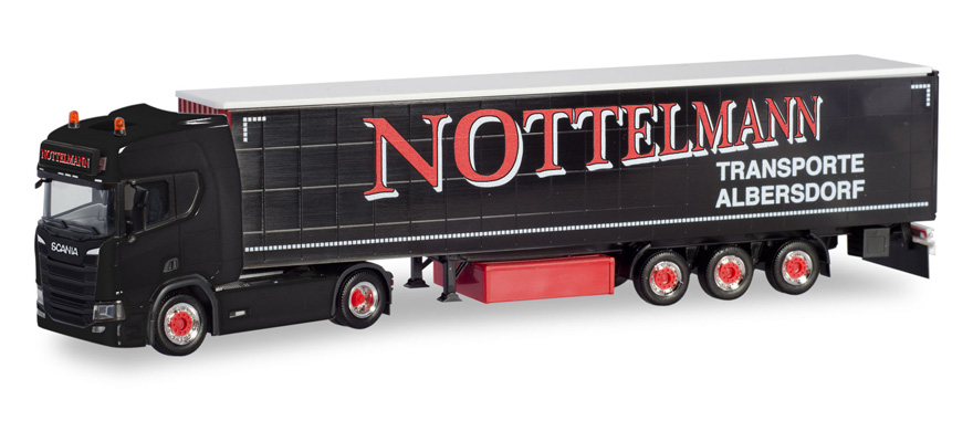 "311038 Scania CR 20 HD curtain canvas semitrailer ""Nottelmann"" (Schleswig-Holstein / Al"