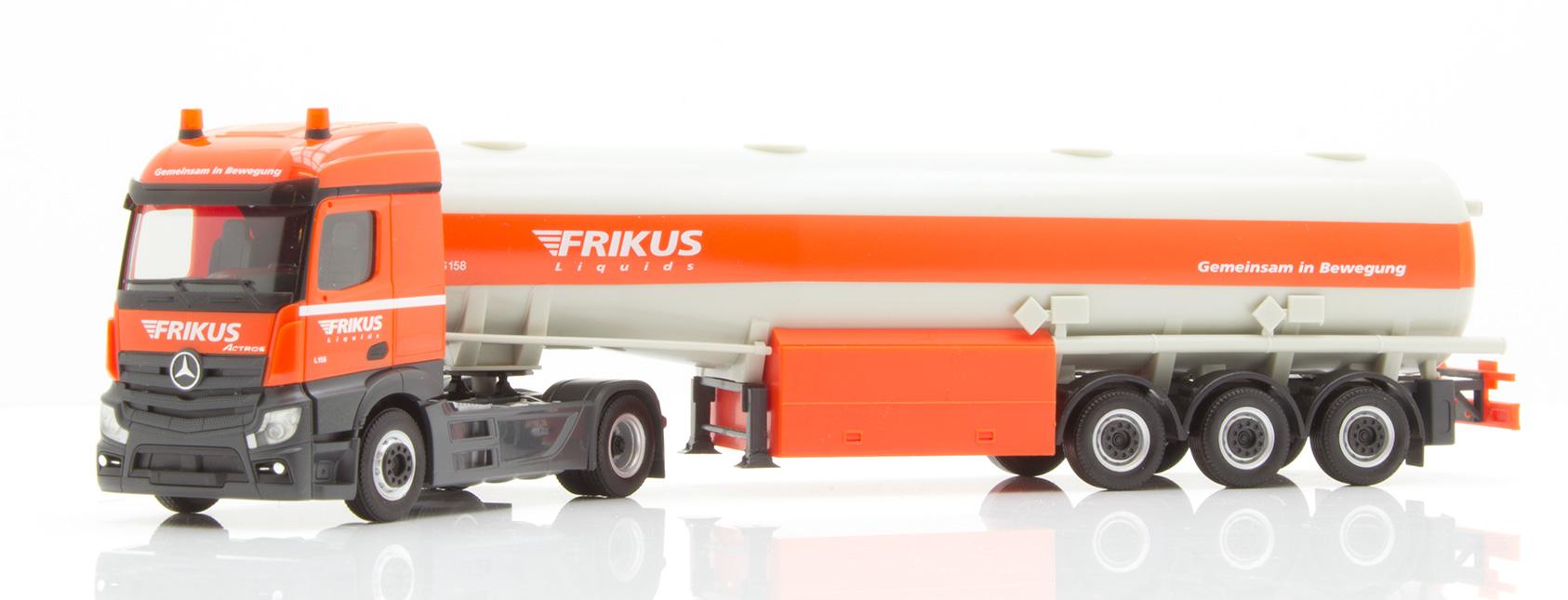 Herpa 942096 MB actros streamspace 2.3 tanque de gasolina-remolcarse