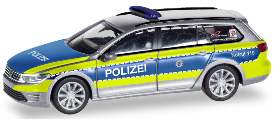Herpa Auto VW Passat Varant polizia Berlino 093569