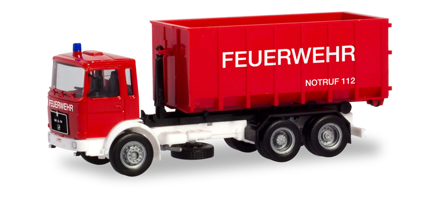 310963 MAN F8 Abrollcontainer-LKW