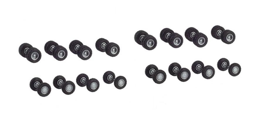 Herpa//albedo neumáticos Tyres 45 unid ruedas delante Oldtimer rueda delantera 1:87 RAD beige