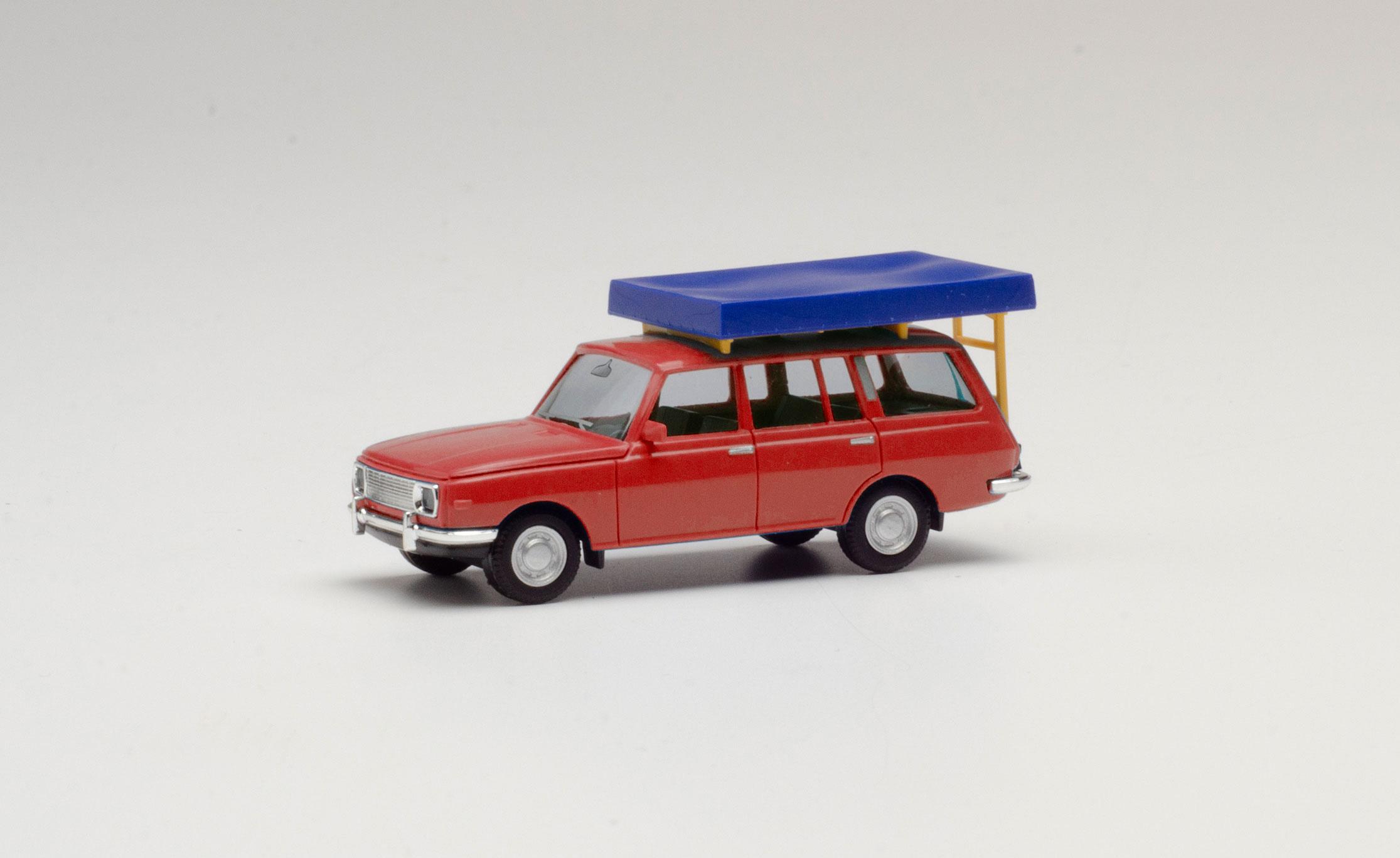 1//87 Herpa Wartburg 353/'66 turista con techo carpa rojo 420549