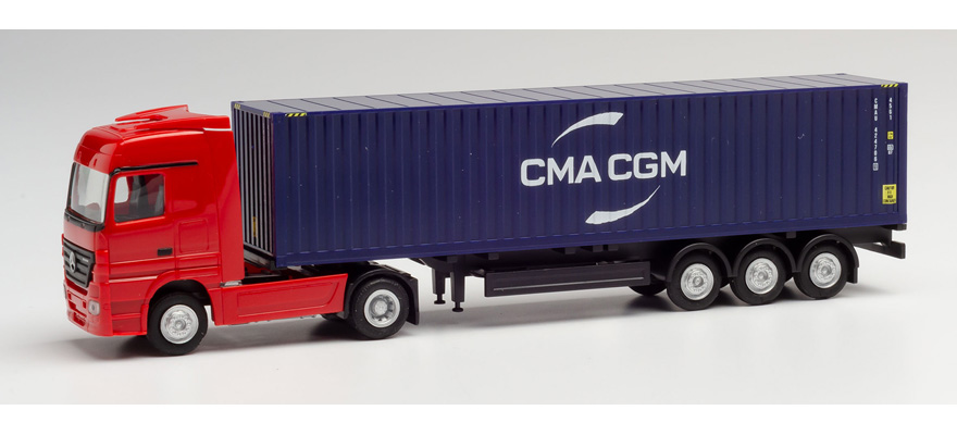 Herpa 1:120 MB Actros 11 Gigaspace Cont-SZ CMA//CGM 066808