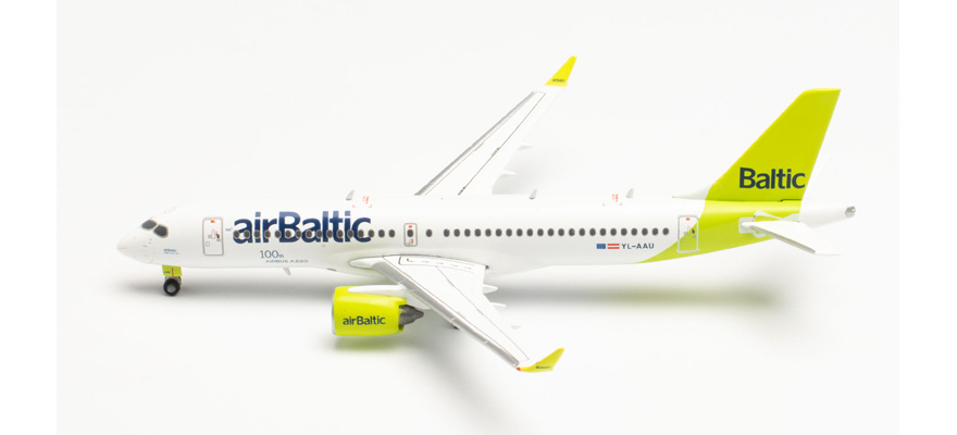562751 A220-300 airBaltic 100th A220 – YL-AAU