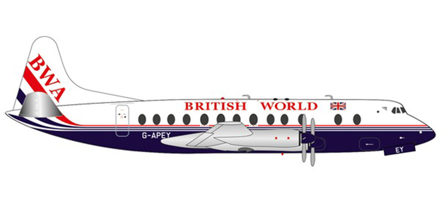 571463 VV 800 Brit World Airl. 25th – G-APEY