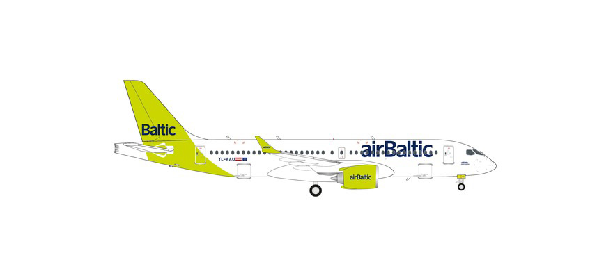 571487 A220-300 airBaltic 100th A220 – YL-AAU