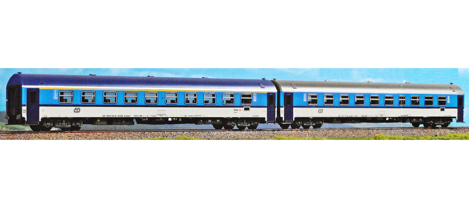 ACME 55192 Gauge H0 Set Of Two Coaches Czech Railways In