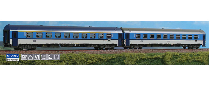 ACME 55192 Gauge H0 Set Of Two Coaches Czech Railways In Najbrt Livery Epoch VI