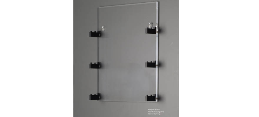 WH-Z-1S Wall bracket track Z for 1 tube