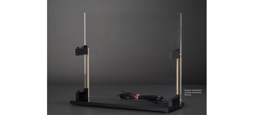 ST-Z-2E Table stand track Z for 2 tubes with power supply