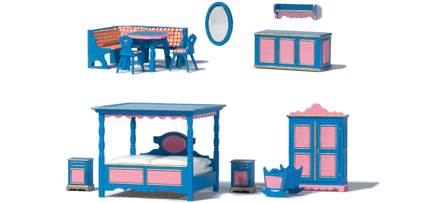 17709 Rustic furniture. Ready-made model