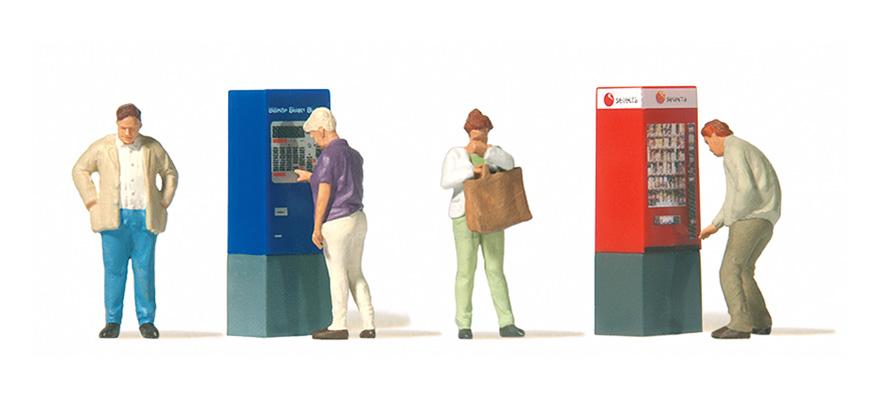 Preiser 10751 At the vending machine