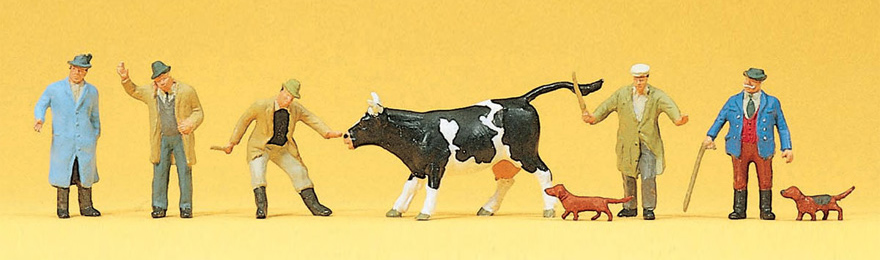 Preiser 10048 Viehhandel H0