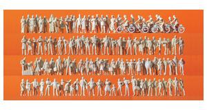 Preiser 16337 Figurenset Reisende und Passanten 120 unbemalte Figuren HO NEU