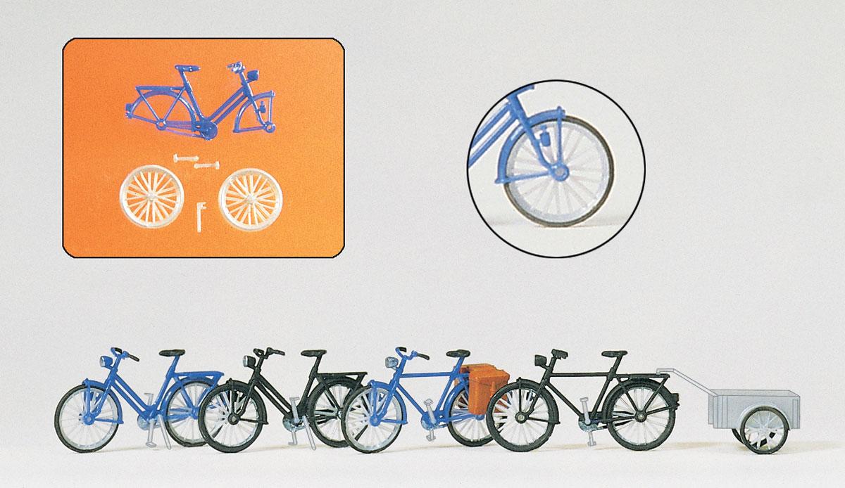 Preiser 17163 H0 Fahrradständer Fahrräder