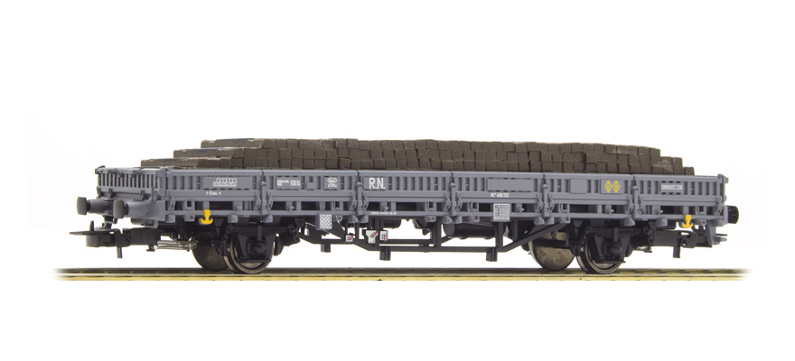 Electrotren E6543 Gauge H0 2-axle stake wagon of R N