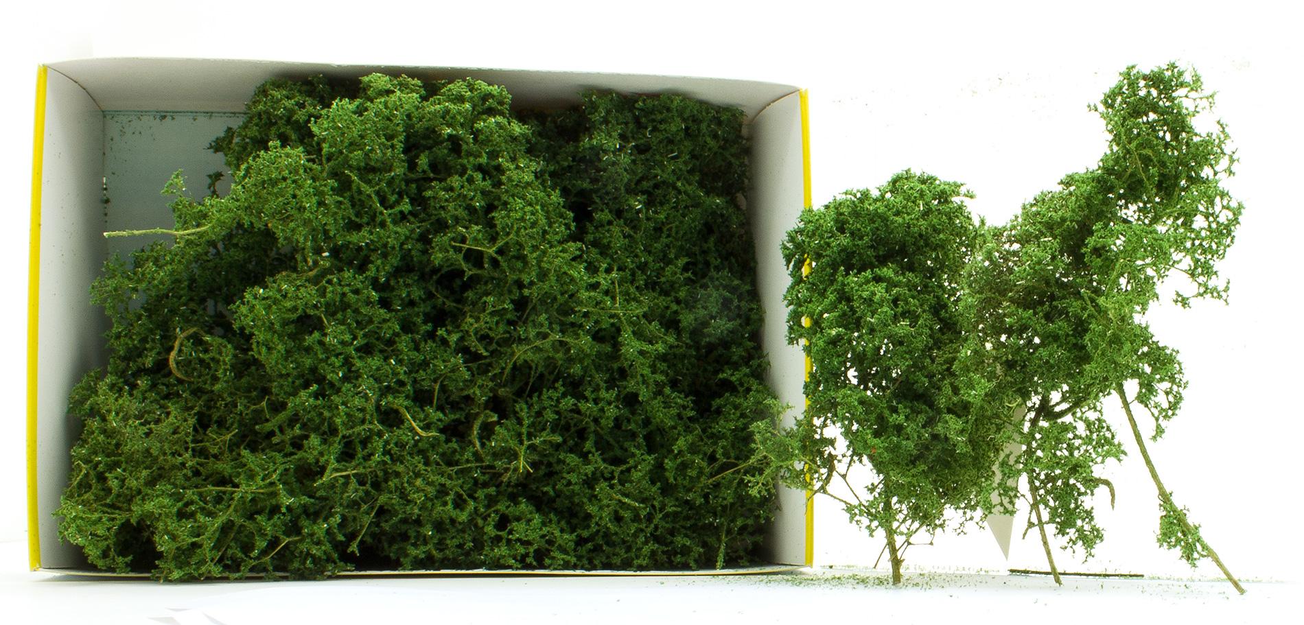 Heki 1631 Laubbäume und Büsche Naturbäume 15 Stück hellgrün H0 TT N Z