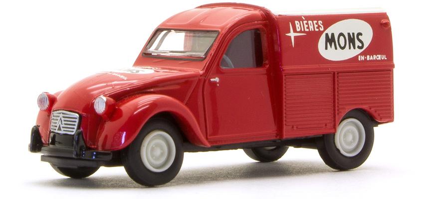B Auto Miniatur H0 Brekina 14174 1//87 Ho Citroen 2CV Azu Mons Biere