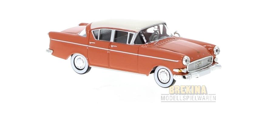 Brekina 20839 h0, 1:87 Opel capitán p2.5 de color rojo claro//blanco-productos nuevos!