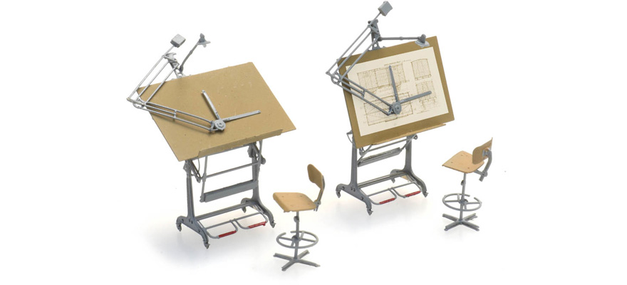 387.474 Drawing boards and chairs