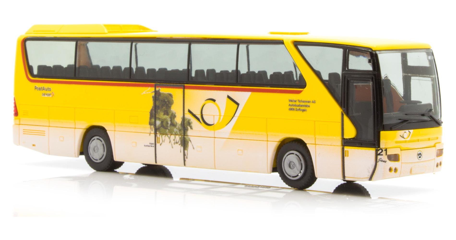 Rietze Mercedes Tourismo Bus Post Car Tschannen Schweiz 64927-1:87