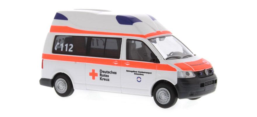 rietze 51892 spur h0 ambulanz mobile t5 hornis silver drk. Black Bedroom Furniture Sets. Home Design Ideas