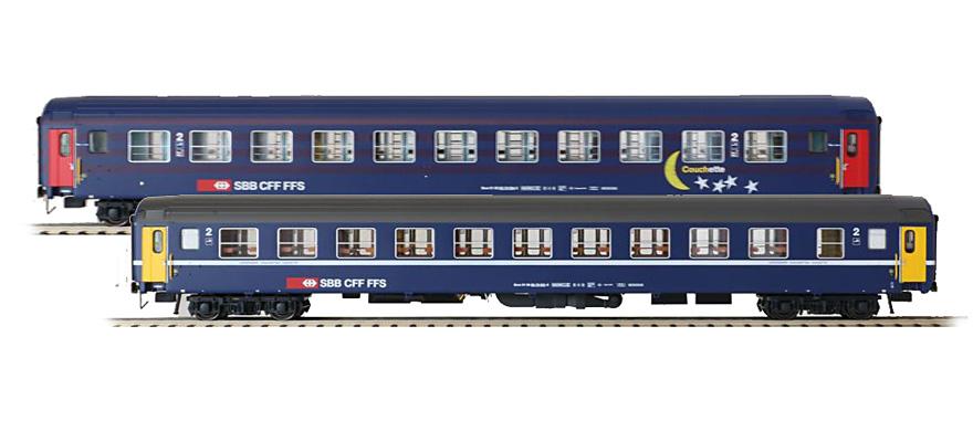 Ls Models 47333 Spur H0 2tlg Set Liegewagen Bcm 11 Abteile Mond
